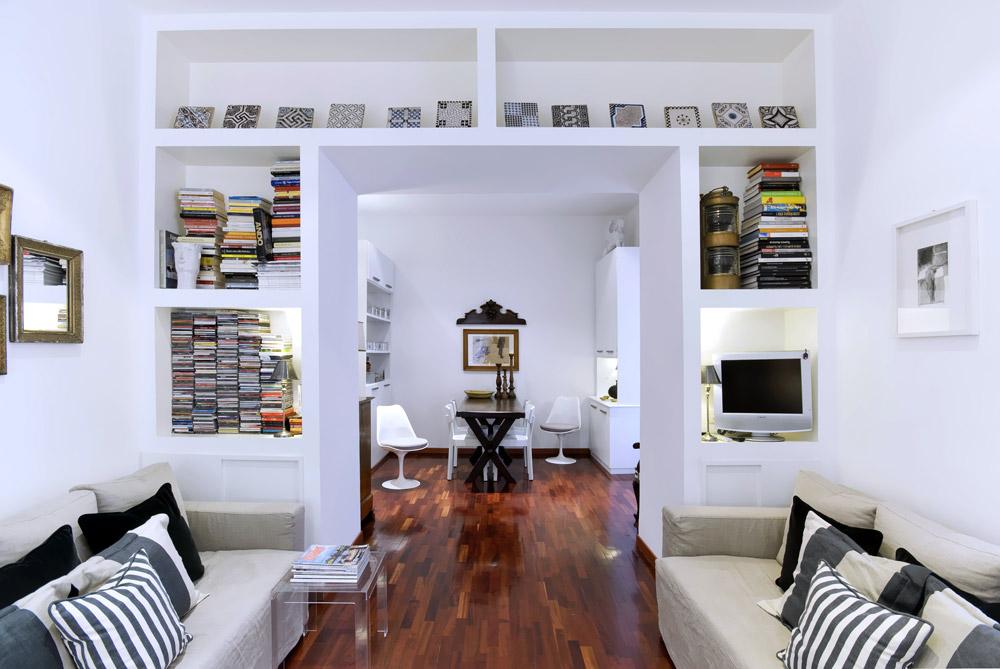 Arredare un appartamento a roma ristrutturazione d for Immagini librerie d arredamento